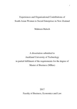 Experiences and Organisational Contributions of South-Asian