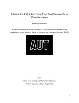 Information Extraction From Free Text Comments in