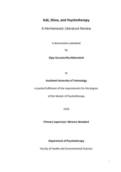 Kali, Shiva, and Psychotherapy A Hermeneutic Literature Review