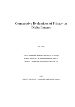 Comparative Evaluations of Privacy on Digital Images