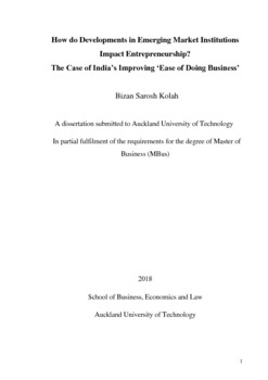 Thesis on ease of doing business