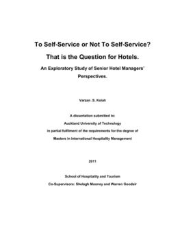 To self-service or not to self-service? That is the question