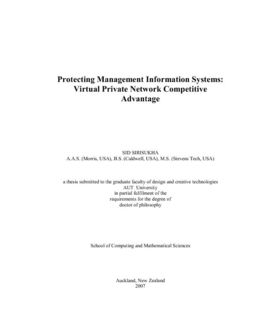 Protecting management information systems: Virtual Private Network