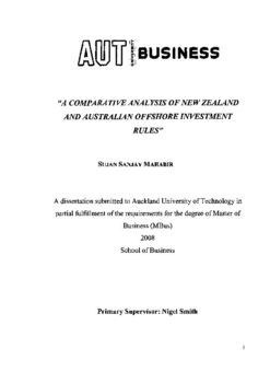 A comparative analysis of New Zealand and Australian offshore