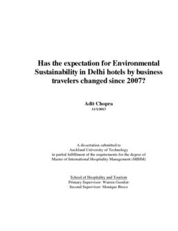 Has the expectation for Environmental Sustainability in Delhi hotels