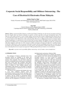Corporate social responsibility and offshore outsourcing: electrical