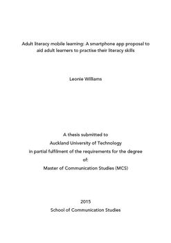 style Adult dissertation learning